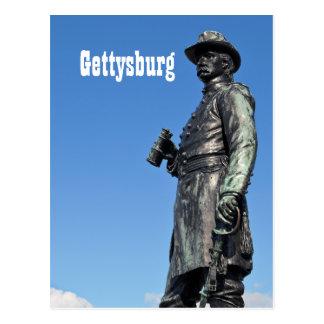 Carte postale de la statue III de Gettysburg