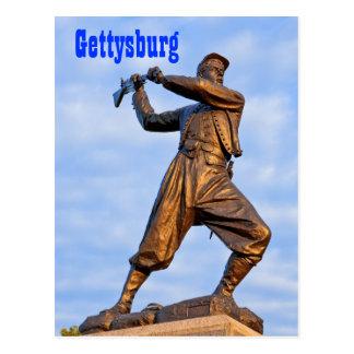 Carte postale de la statue IV de Gettysburg