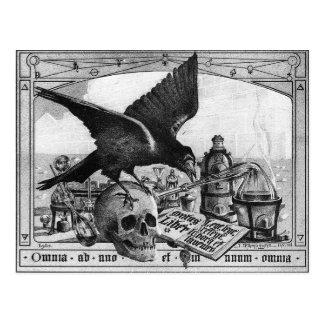Carte postale de laboratoire d'alchimie