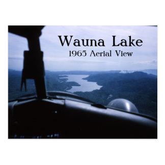 Carte postale de lac Wauna de vue aérienne