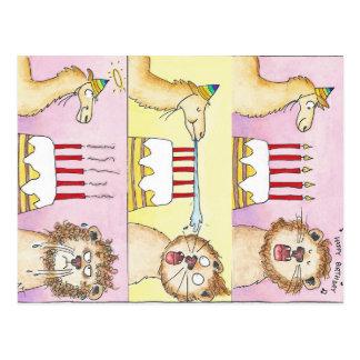 Carte postale de LAMA ET de LION par Nicole Janes