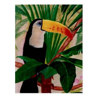 Carte postale de l'Amérique du Sud d'art de faune