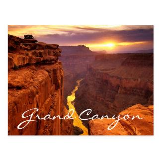 Carte postale de l'Arizona de coucher du soleil de