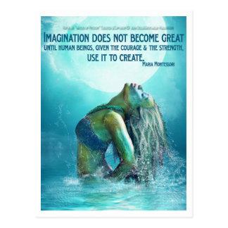 Carte postale de l'eau de mystères d'imagination