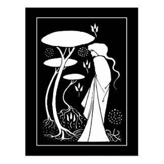 Carte postale de LeFay de sorcière de Beardsley