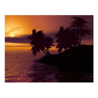 Carte postale de lever de soleil