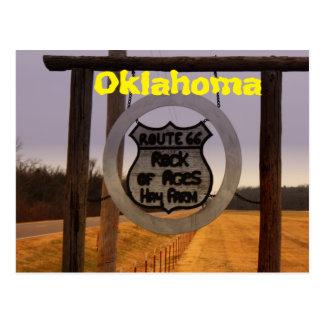 Carte postale de l'Oklahoma de l'itinéraire 66