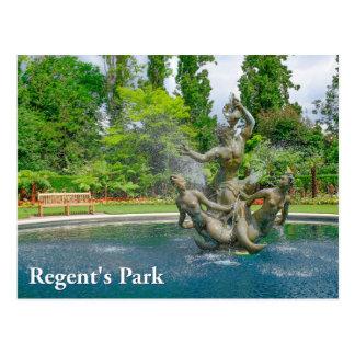 Carte postale de Londres du parc du régent de