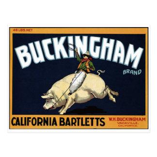 "Carte postale ""de marque de Buckingham"""