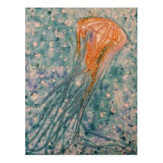 Carte postale de méduses