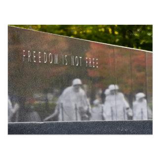 Carte postale de mémorial de combattants de Guerre