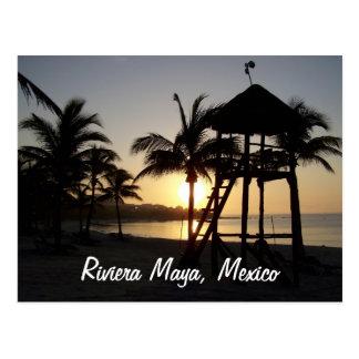 Carte postale de mer des Caraïbes de Cancun