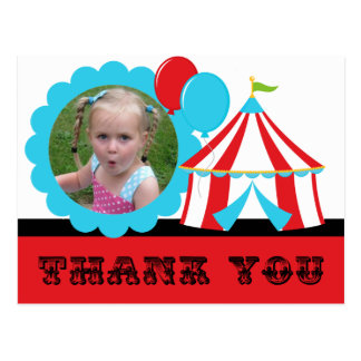 Carte postale de Merci de cirque de chapiteau