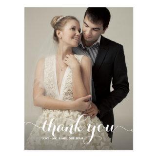 Carte postale de Merci de mariage de manuscrit de