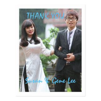 Carte postale de Merci de photo de mariage