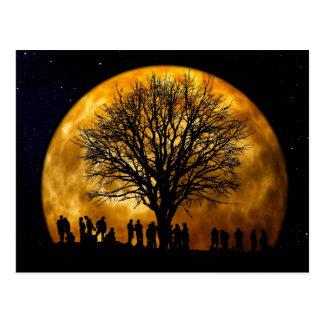 Carte postale de minuit de pleine lune