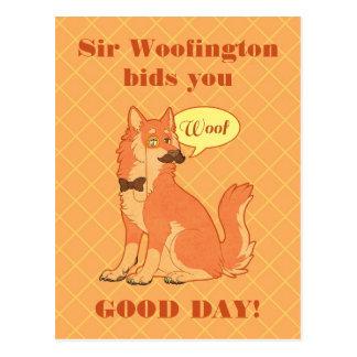 Carte postale de monsieur Woofington