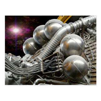 Carte postale de moteur-fusées de Saturn V