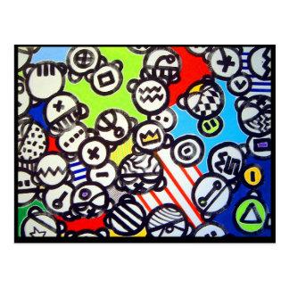 Carte postale de motif d'icône