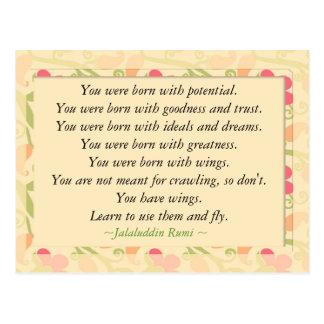 Carte postale de motivation inspirée de citation
