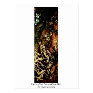 Carte Postale De moulage condamné dans l'enfer. Par Hans Memling