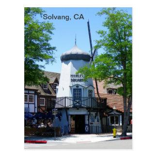 Carte postale de moulin à vent de Solvang !