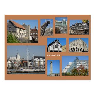 Carte postale de multi-image de Southampton