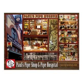 Carte postale de musée du tuyau de Paul
