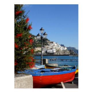 Carte postale de Noël d'Amalfi