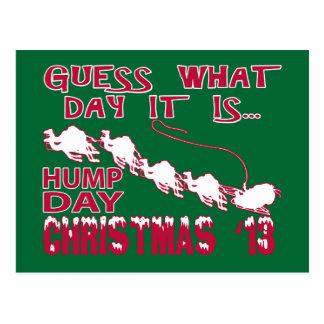 Carte postale de Noël de chameau de journée en
