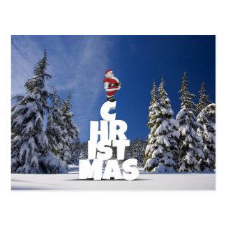 Carte postale de Noël et du père noël