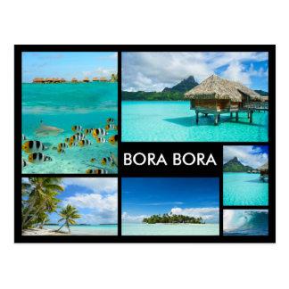 Carte postale de noir de collage d'image multiple