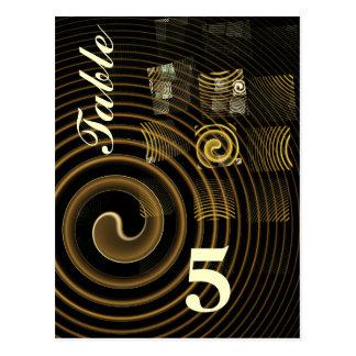 Carte postale de nombre de Tableau d'hypnose
