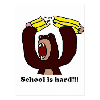 Carte Postale De nouveau à l'école Bear.png grincheux