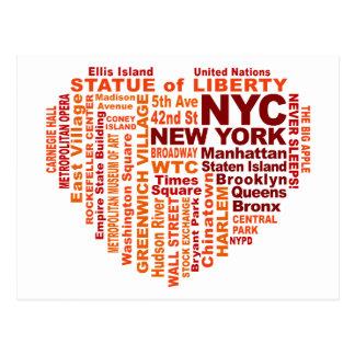 Carte postale de NYC - personnalisable