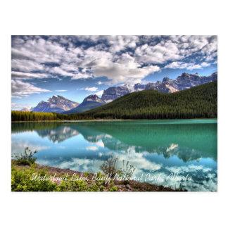 Carte postale de parc national de Banff de lac