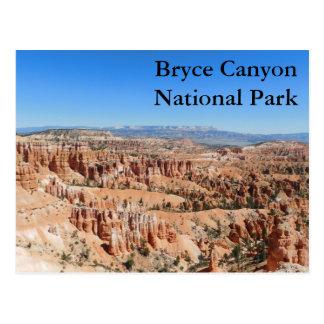 Carte postale de parc national de canyon de Bryce
