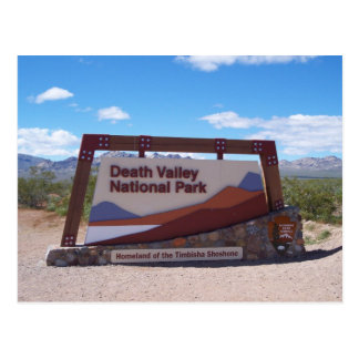 Carte postale de parc national de Death Valley