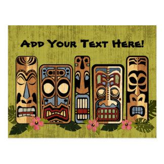 Carte postale de partie de Tiki