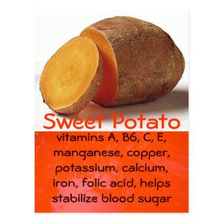 carte postale de patate douce