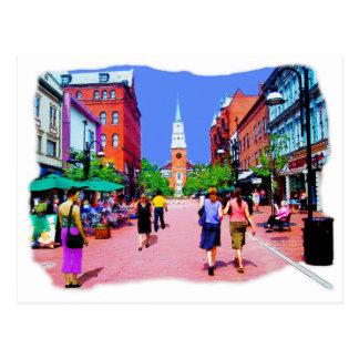 Carte postale de peinture de rue du Vermont