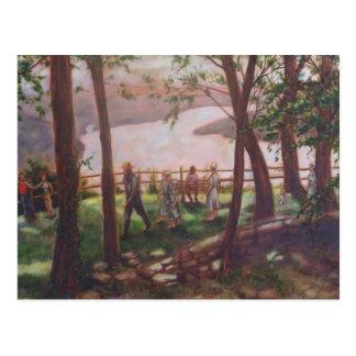 Carte postale de peinture du comté de Lancaster de