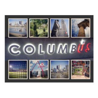 Carte postale de photo de Columbus Ohio