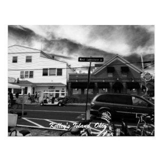 Carte postale de photo de rue de l'île de Kelley,