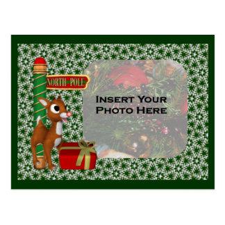 Carte postale de photo de vacances de Noël