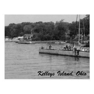 Carte postale de photo du lac Érié d'île de