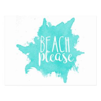 Carte Postale De plage blanc svp