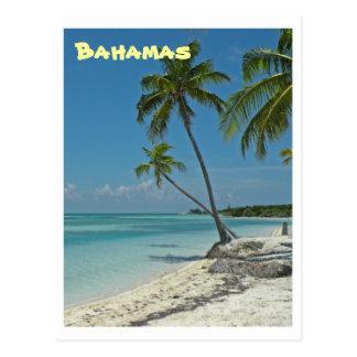 Carte postale de plage des Bahamas