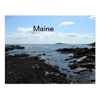 Carte postale de plage du Maine