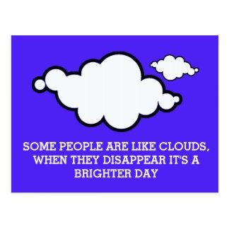 Carte postale de plaisanterie de nuage